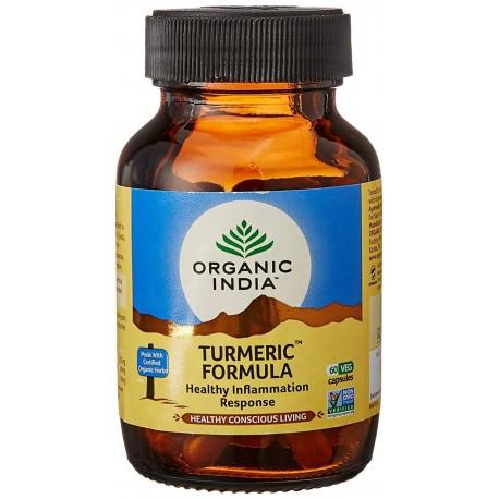 Organic India Turmeric Formula Healthy Inflammation Response Pure Safe & Effective - 60 Capsules
