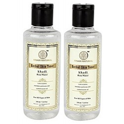 Khadi Natural Rose Water, 210ml (Pack Of 2)