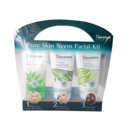 Himalaya Pure Skin Neem Facial Kit Facewash 50ml, Scrub 50g & Face Pack 50g