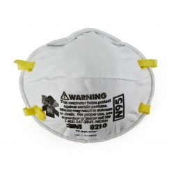 Health Care Particulate Flu Protection Respirator 3M 8210 N95 Surgical Mask Pack Of 20