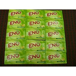 15 X Eno Fruit Salt Antacid Instant Acidity Relief Lemon (Lime) Flavour 5g X 15 Sachet by Eno