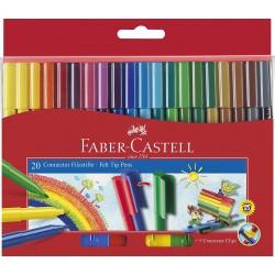 Faber-Castell FIBRE TIP CONNECTOR PENS BOX 20