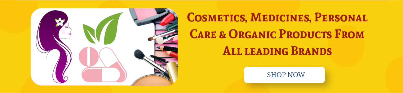 Cosmetics, Medicines, Personal Care & Organic Products From All leading Brands