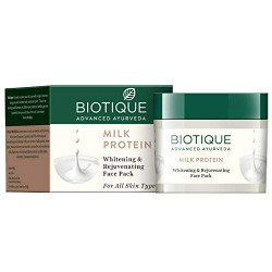 Biotique Bio Milk Protein Whitening & Rejuvenating Face Pack For All Skin Types, 50gm