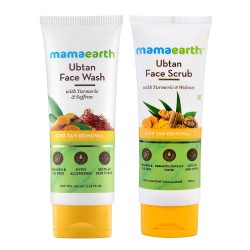 Mamaearth Tan Removal Combo Ubtan Face Was + Face Scrub 100gm