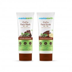 Mamaearth Coco Deep Cleanse Combo Face Wash + Face Scrub 100gm