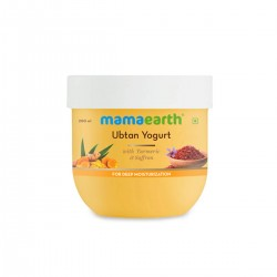 Mamaearth Ubtan Yogurt Lotion For Dry Skin with Turmeric and Saffron 200ml