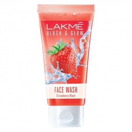 Lakme Blush & Glow Gel Face Wash, Strawberry Blast 100gm