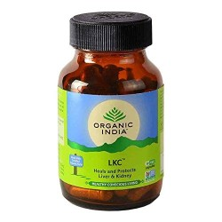 Organic India Liver & Kidney Care Certified Organic Herbs Detoxifies Purifies & Rejuvenates 325mg V Caps