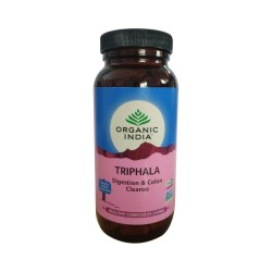 Organic India Triphala Capsules - Digestion & Colon Cleanse - 250 Capsules(1 Bottle)
