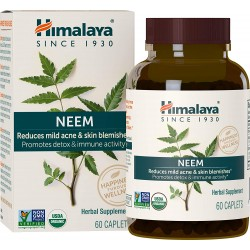 Himalaya Organic Neem 60 Caplets for Mild Acne & Healthy Skin