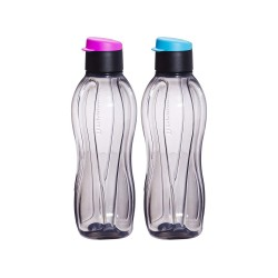Tupperware Eco Black Flip Top Water Bottle - 310 ml - Set of 2