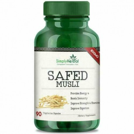 Simply Herbal Extremely Potent 800 Mg Safed Musli