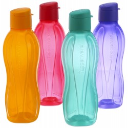 Tupperware 750 Ml Flip Top Water Bottles 4750 Ml Colors May Vary