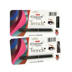 K-Veda Eyeyurvedic Kohl Liner Trendz Black Shimmer + Subtle Taupe