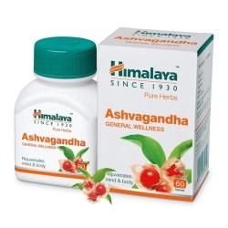 Himalaya Wellness Pure Herbs Ashvagandha General Wellness 60 Tablets x 2