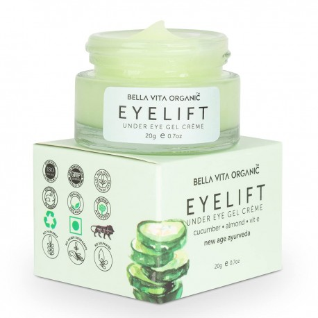 Bella Vita Organic EyeLift Under Eye Cream Gel for Dark Circles, Puffy Eyes, Wrinkles & Removal Of Women & Men, 20gms