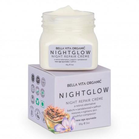 Bella Vita Organic Night Glow Face Cream For Skin Repair Sandalwood & Shea Butter 85gm