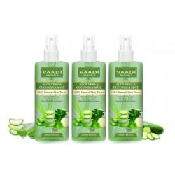 Vaadi Herbals Aloe Vera & Cucumber Mist - 100% Natural Skin Toner (250 ml) (Pack of 3)