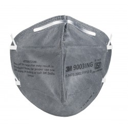 3M 9003 IN GRY Mask / Respirator FFP1 IN Pack of 5 Grey