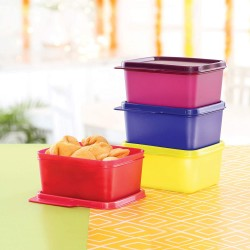Tupperware Square Refrigerator Container Keep Tab 500ml 4pc
