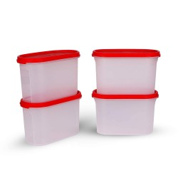 Tupperware Dry Storage Containers MM Ova 1.1L- 4pc