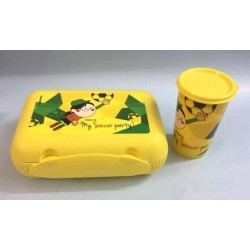 Tupperware at Lunch My Soccer Lunch Box withTumbler Yellow