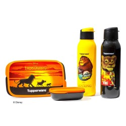 Tupperware Disney Lion King MyLunch & Water Bottle One (750 ml) Set - Kids Colour May Very