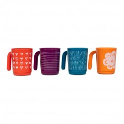 Tupperware Plastic Coffee And Tea Mug - 4 Pieces 350 ml - Colour May Very