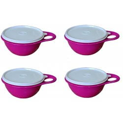 Tupperware Plastic Bowl Set 600ml Set of 4 Multicoloured