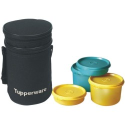 Tupperware Executive Plastic Lunch Set with Bag 4-Pieces