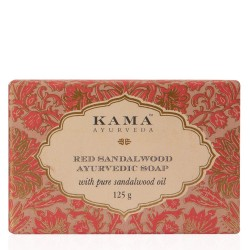 Kama Ayurveda Red Sandalwood Ayurvedic Soap with Pure Sandalwood Oil, 125g