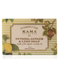 Kama Ayurveda Nutmeg Ginger and Lime Soap with Green Tea Extracts and Organic Coconut Oil, 125g