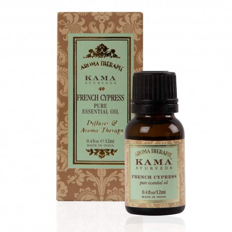 Kama Ayurveda French Cypress Pure Essential Oil, 12ml