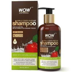 WOW Apple Cider Vinegar No Parabens & Sulphate Shampoo, 300ml