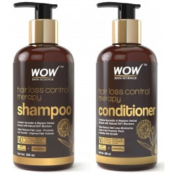 Wow Skin Science Hair Loss Control Therapy Shampoo (300ml) - Hair Loss Control Therapy Conditioner (300ml) Combo