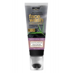 Wow Skin Science Activated Charcoal Face Wash Gel 100ml