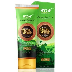WOW Amazon Rainforest Collection - Mineral Face Wash with Red Volcanic Clay 100ml