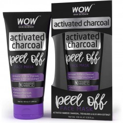 Wow Skin Science Activated Charcoal Face Mask - Peel Off No Parabens & Mineral Oils 100ml