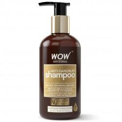 WOW Anti Dandruff No Parabens & Sulphate Shampoo 300ml