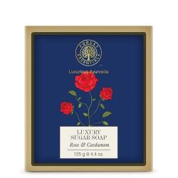 Forest essentials Luxury Sugar Soap Rose & Cardamom 125gm