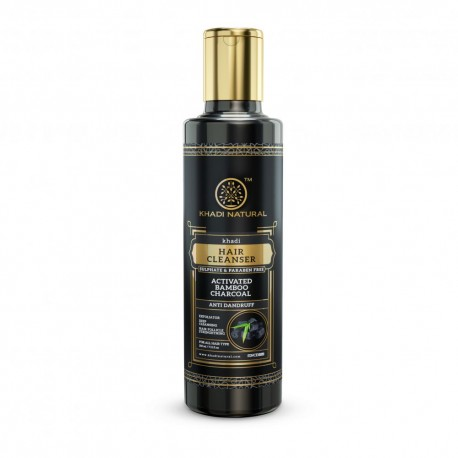 Khadi Natural Activated Bamboo Charcoal Hair Cleanser 210ml