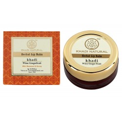Khadi Natural Wine Grapefruit Lip Balm with Beeswax and Shea Butter, 5gm