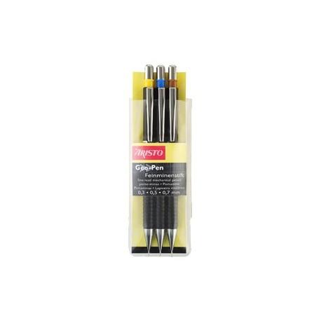 Aristo AR85009 Geo-Pen Fine Lead Pens HB Set of 3 Black
