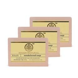 Khadi Natural Sandalwood Soap 125g (Pack Of 3)